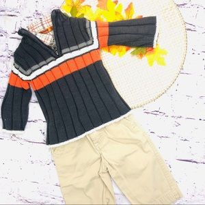 Children Place Sweater Khaki Pant Fall  3-6 mon